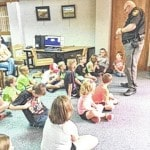 Sergeant Bobby Stroop visits library