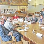 Local superintendents meet with Peterson, Rosenberger