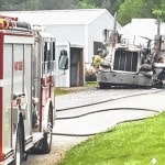 Truck fire extinguished Thursday
