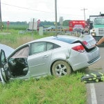 Four transported after accident