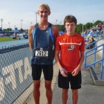 Two compte at Junior Olympics