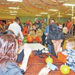 Senior center members enjoy working Halloween party