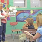 Students receive history lession