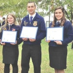 Three receive American FFA Degrees