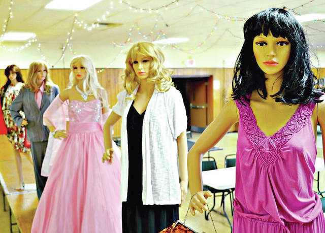 These mannequins will be replaced by live models during the Ladies Day Out Fashion Show Catwalk For A Cause scheduled for July 12 at the Highland County Senior Center.
