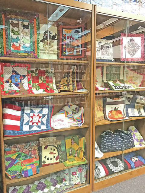 These quilts are currently on display at the Highland County District Lirbary in Hillsboro.
