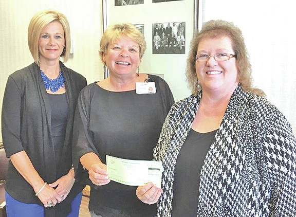 Merchants National Bank has made an annual pledge payment to the Highland District Hospital Foundation GreatER Care Campaign and invites you to join it in contributing to this most worthy cause. This campaign, which began in 2016 and will continue until 2020, is an effort to raise over $1.5 million toward the renovation and expansion of the emergency department at Highland District Hospital. Because of generous donations, pledges and support like that from Merchants National Bank, the foundation has reached $1,224,159 toward that goal. For more information on the GreatER Care Campaign, call Cathy Jones at 937-393-6360. Pictured, from left, are Denise Fauber, MNB vice president of branch operations; Cathy Jones, HDH foundation director; and Bertha Hamilton, MNB chairman secretary/HR.