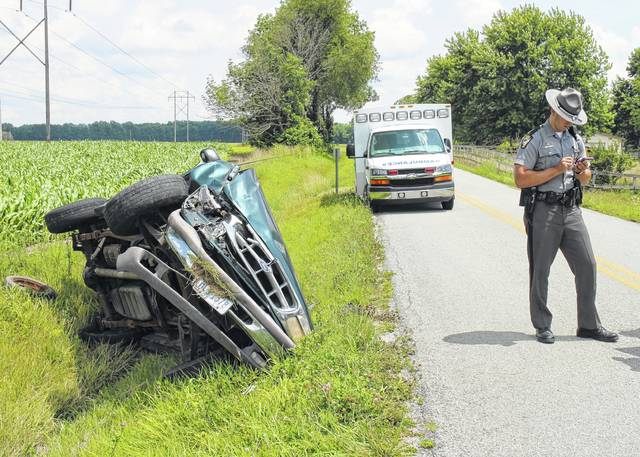 A driver refused treatment Thursday afternoon after flipping a Ford SUV in a ditch on Webertown Road near Webertown. A trooper with the Wilmington post of the Ohio State Highway Patrol said the female driver was headed east on Webertown Road toward Wise Road when she lost control of the vehicle, drove through the oncoming lane and rolled the vehicle, ending up in a ditch on the side of the road. The trooper said she told him she heard a popping noise before losing control, indicating a possible mechanical issue. The Lynchburg Area Joint Fire and Ambulance District responded to the scene. The trooper declined to identify the woman while the accident is under investigation. The matter is still under investigation.
