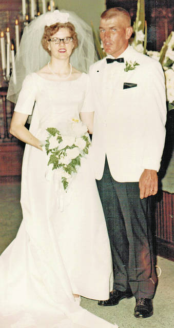 Robert and Donna Armstrong will celebrate their 50th wedding anniversary on Sunday, July 23, 2017. A private family dinner hosted by their son and family, R. Jason, Colleen, Jackson and Clay Armstrong of Indiana, will be enjoyed at the Ponderosa Banquet Center on Saturday, July 22. Bob and Donna were united in marriage by the Rev. Dean Montgomery and the Rev. Philip Covert on Sunday, July 23, 1967 at the First Presbyterian Church in Hillsboro. Deceased parents are Frank and Mary Armstrong and Earl and Evelyn Dick, all of the Marshall community. After a honeymoon in Florida, Bob and Donna moved into their new home on SR 506, where they reside today. Bob and Donna have had many happy memories of vacations, picnics and visits with family and friends. If you would like to help Bob and Donna celebrate their anniversary with a card or note, a scrapbook of received cards will be completed to be enjoyed.