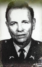 Harry Shoop is pictured after returning to the Ohio National Guard following World War II.