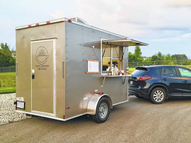The Fertile Grounds Coffee and Roastery wagon makes daily stops at several locations in the area throughout the week. Owner Corey Cockerill said the driving force behind the mobile coffee shop is providing people a place to build community over a good cup of coffee.