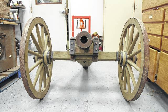 """Customers visiting Hillsboro Armory and Manufacturing may find themselves staring down the business end of this North Carolina cannon - but, according to business owner Jeremiah Ogden, it's """"just for giggles."""""""