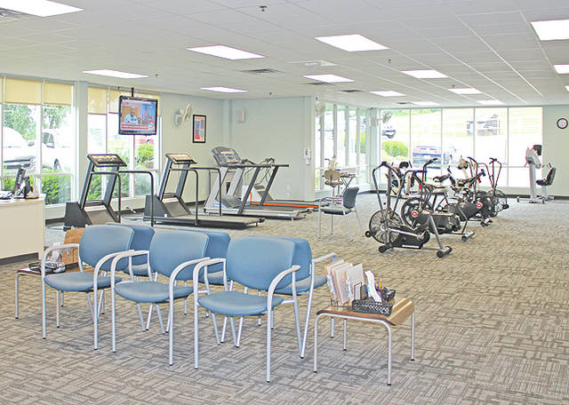 The interior of Adena Health System's new Cardiopulmonary Rehabilitation facility is shown in this photograph.