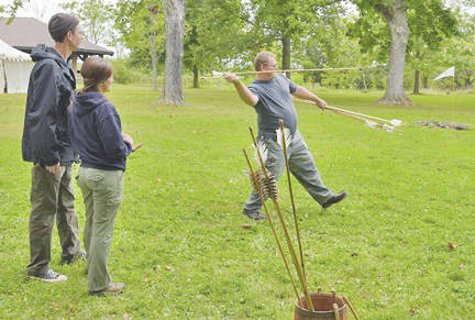 Atlatl demonstrations will be given throughout the day during Archaeology Day on Aug. 19 at Serpent Mound.