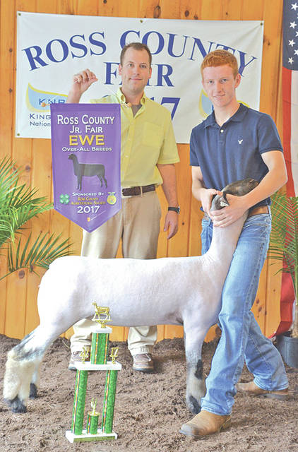 Jeff Kline, the son of Chris and Shalaina Kline of Greenfield, was awarded grand champion in showmanship for two sheep at the Ross County Junior Fair. Jeff is a member of the Frogtown Thrifters 4-H Club.