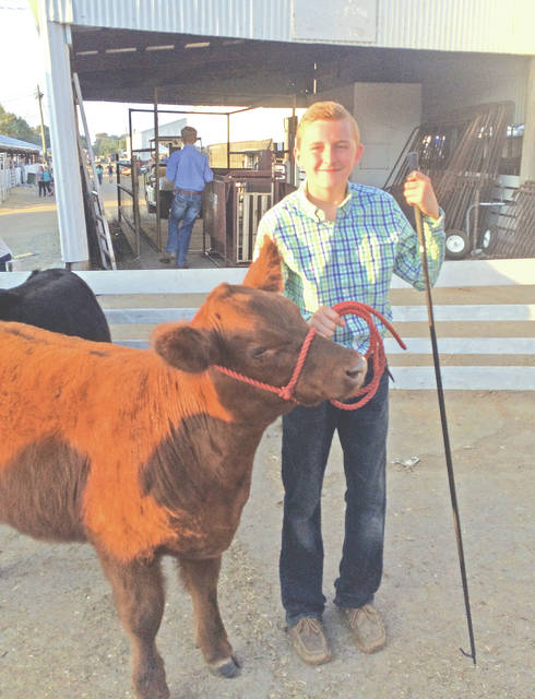A Hillsboro FFA student is pictured at the 2017 Highland County Fair.