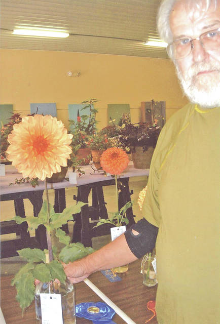 Larry Moore won Best of Show Horticulture at the Friday Flower Show.