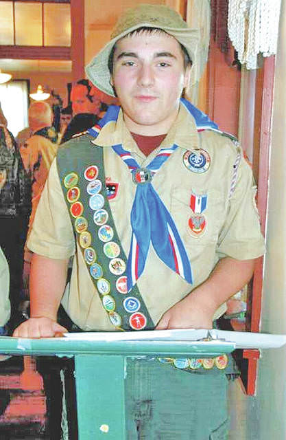 William Edward Albert received his Eagle Scout Award on Sept. 30 with Troop 6171 Simon Kenton Council, Chief Logan district, chartered by the Hillsboro Lions Club. The event was held at the Highland House Museum where he completed his project. William is the son of Daniel G. Albert and the late Elly K. Albert. His stepmother is Sarah Albert. William is a senior at Hillsboro High School, is enrolled at Laurel Oaks in the dental hygienist program, and is employed at Kroger in Hillsboro.