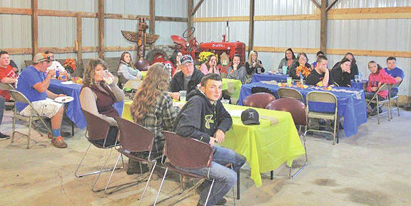 The Mowrystown FFA Chapter recently hosted its annual fall party. The chapter held a meeting and members enjoyed a dinner and fun activities after the dinner.