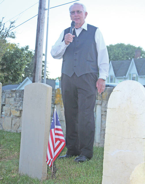 Otis Wagner is shown portraying a character from last year's Greenfield Historical Society Ghost Walk.