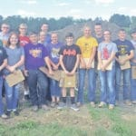 McClain FFA members compete in soils contests