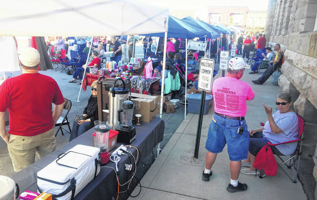 Vendors and visitors lined the streets along Governor Foraker Place and Governor Trimble Place on Saturday for the second annual Taste of Highland County.