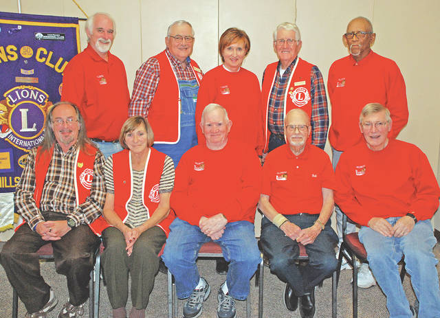 Members of the Hillsboro Lions Club are shown in this photo. The club opened its candy store for the 28th year on Nov. 10. The store is located at 957 N. High St. and sells 82 different kinds of candy, four sizes of brooms and gift items. It will remain daily until at least Christmas Eve from 8:30 to 5:30 p.m. Monday through Saturday and noon to 4 p.m. on Sundays. The store can be reached at 937-403-1364. Pictured are (seated, l-r) Norm Neuberger III, Bonnie Parr, John Dodds, Bob Parker and Earl Burnett; (standing, l-r) Phil McElwee, Gary Ames, Jill Reffner, Don Edwards and Larry Cole. Several members of the club were not present for the photo.
