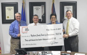 Highland County Commissioners receive $38K from AEP