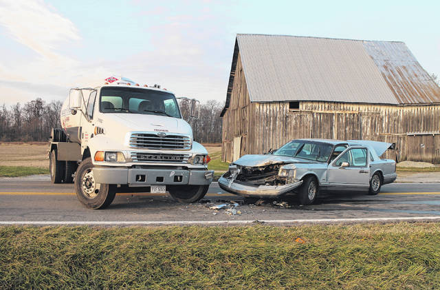 No injuries were reported in an early morning wreck on State Route 73 south of New Vienna after a silver sedan apparently struck a propane truck. A trooper with the Ohio State Highway Patrol told The Times-Gazette on scene that no one was injured and no propane was lost, although the sedan sustained heavy damage to its front end. The incident had the route shut down for some time Wednesday morning. No further information was immediately available.