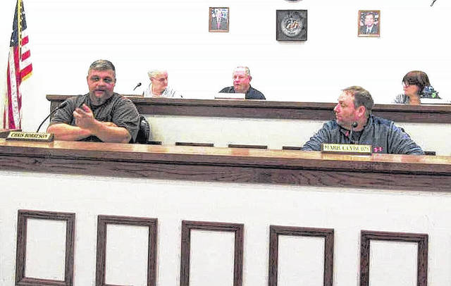 Pictured from left to right are Greenfield council members Chris Borreson, Betty Jackman, Bob Bergstrom, Mark Clyburn and Brenda Losey.