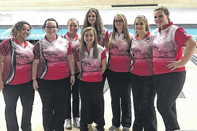 The Hillsboro High School varsity girls bowling team poses for a picture following an outstanding performance at the State Kick-Off Tournament.