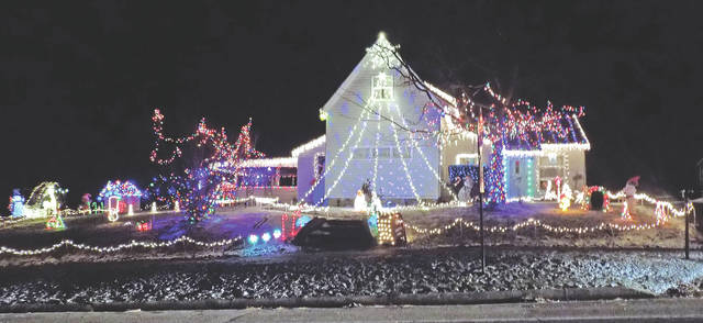 Jeremy Kibben's home in Highland was the out-of-town winner in the Leesburg Luminaria Night Home Decorating Contest.
