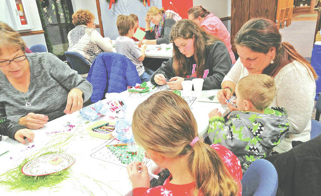 Area residents enjoy a recently Family Night at the Greenfield Branch Library.