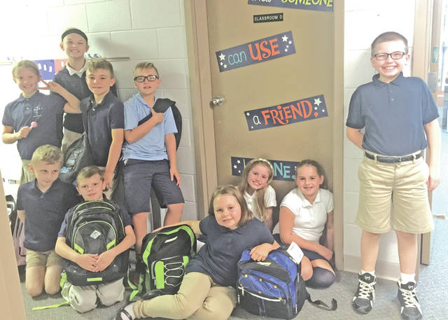 "When St. Mary Catholic School gave its teachers a small amount of money to spend on their classroom, one of the teachers asked if she could instead adopt a classroom that was hit by Hurricane Harvey. Through the ""Adopt A Classroom"" connection, the teacher was matched with a school and given a list of needed items. Then she began the search for bookbags, books, school supplies and more to meet the students' needs. To carry this project a bit further, she encouraged her students to write letters to the students who would be receiving the packages. Once everything was ready, the students packaged the items and included the letters in the boxes. They addressed and sealed the boxes that are have made their way to Dowling Elementary in Port Authur, Texas."