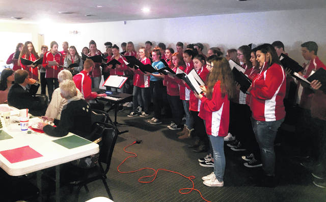 The Hillsboro High School Symphonic Choir performed a number of holiday-themed songs for the Hillsboro Rotary Club on Tuesday during Rotary's weekly meeting at the Ponderosa Banquet Center. The Rotary club makes an annual donation to the choir, which peformed under the direction of David White.