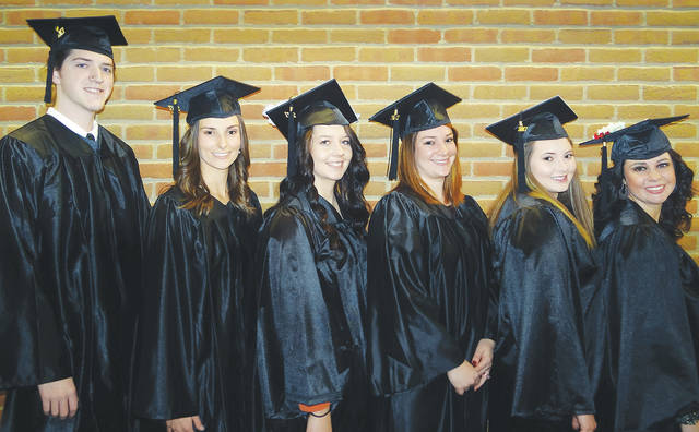 The 11th graduating class of the Southern State Community College Respiratory Care program included (l-r) Connor Harris, Samantha Vergamini, Kathryn Seyfang, Mallory Conrad, Theresa Elrich and Sierra Houser.