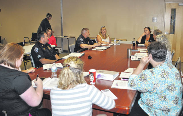 Shown are members of the Highland County Drug Abuse Prevention Coalition at a previous meeting.