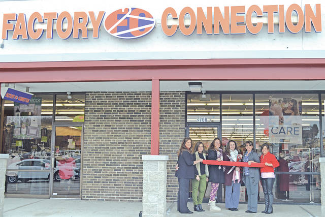 Highland County Chamber of Commerce members are pictured with employees at Factory Connection, the newest member of the Chamber. Factory Connection, located at 1429 N. High St., Suite 700 in the Highland Plaza, Hillsboro, has had a location in Hillsboro for a couple years, but just joined the Chamber. Factory Connection carries a variety of styles in juniors, misses, plus size and men's clothing as well as shoes, accessories and home decor. It offers name brand fashions at what it says are prices below most retail stores. The store is open Monday through Saturday from 10 a.m. to 7 p.m. and Sunday from 1-5 p.m. Call 937-402-4785 for more information.