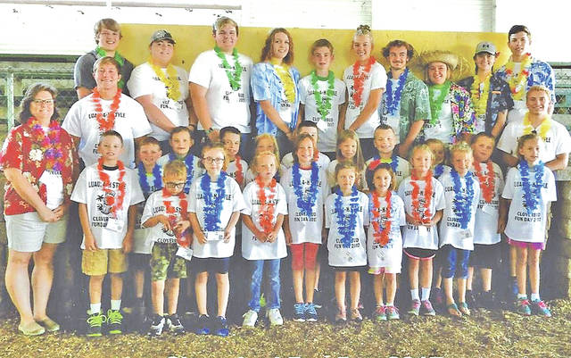 Members of the Family and Consumer Sciences Board are pictured with young 4-H members during the 2017 Cloverbud Fun Day.