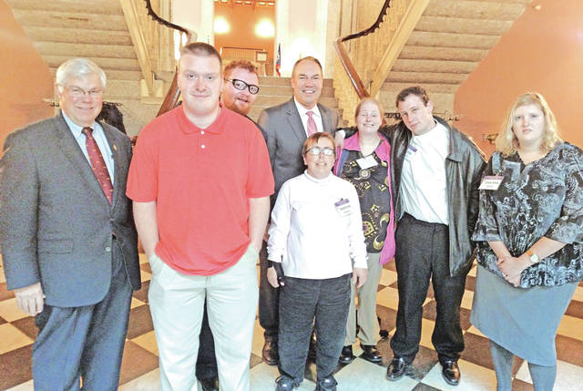 Members of the People First of Highland County Self-Advocacy Group recently attended the Developmental Disabilities Awareness Day in Columbus.