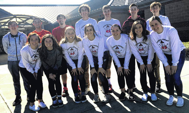 Fairfield High School's Indoor Track Team poses for a team photo at Fairfield High School. Pictured: Row 1 L to R: Sarah Young, Chloe Barber, Blake Adams, Ailean Duffie, Meadow Cunningham, Mikayla Griffith, Paige Teeters. Row 2 L to R: Tristan Victor, Nick Price, Wyatt Fent, Brandtson Duffie, Andrew Davis, Bennett Hodson, Matthew Mangus. Not Pictured: Bryce Posey.