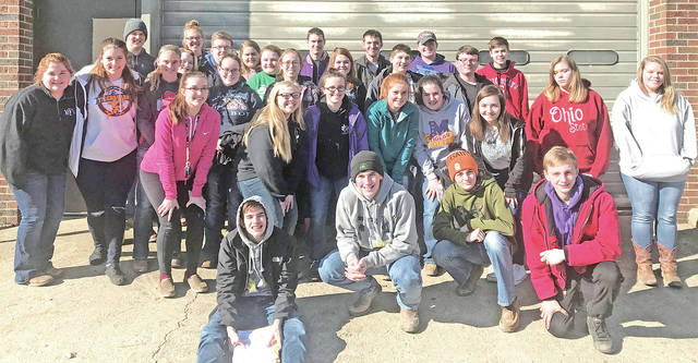 Twenty-four members of the McClain FFA participated in the Marysville Judging Invitational on March 3. Members Cheyanne Watson and Kaitlin Kellis competed in equine. Cheyanne Watson received high individual and the team placed 43rd. Others Members competing were Destiny Trefz, Bryn Karnes, Caleb Cook, Emily Jones, Ethan Cockerill, Josie Crabtree, Abbie Dhume, Natalie Rolfe, Justin Hall, Garrett Brewer, Sam Faulconer, Kelli Uhrig, Haley Hinkle, Abbie Sluss, Noah Reeves, Dakota Bland, Taylor Thompson, Brogen Villars, Owen Kline, Chloe Sluss and Ella Osborne. The team received fifth place. Member Teagan White competed in wildlife management and was ranked 83rd.