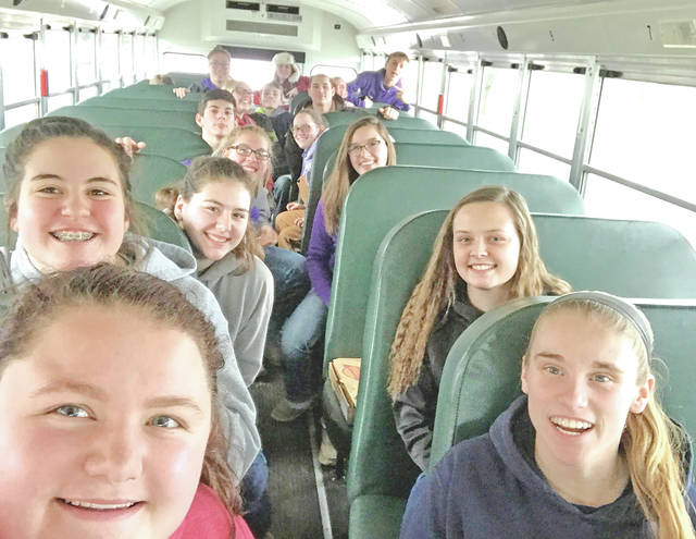 Nineteen members of the McClain FFA traveled to the Clark County Fairgrounds on March 7 for the Wilmington College Aggies Judging Contest. Members Cheyanne Watson, Teagan White and Kaitlin Kellis participated in equine. The team placed 29th. Members Kelli Uhrig, Emily Jones, Caleb Cook, Ethan Cockerill, Abbie Dhume, Destiny Trefz, Bryn Karnes, Josie Crabtree, Garrett Brewer, Natalie Rolfe, Heidi Rolfe, Owen Kline, Brooke Kline, Alex Snyder, Noah Reeves and Brogen Villiars also competed. The team placed first and Kelli Uhrig was the high individual in the contest.