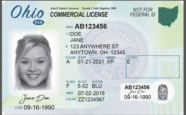 ohio drivers license over 18
