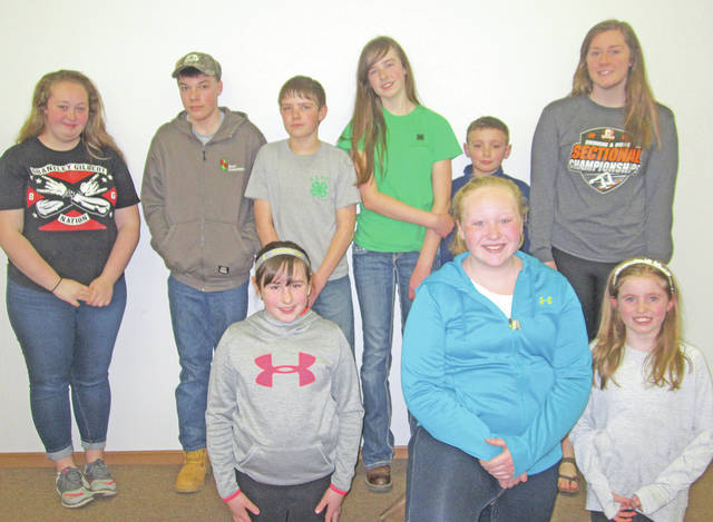 New officers for the Highland County Poultry, Pigs and Lambs 4-H Club are pictured.