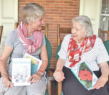 Mary Jean (Cadlwell) Bell, right, is pictured with one of her four children, Constance Lindgreen. They are holding books each of them recently published.