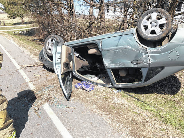 This vehicle was involved in a rollover wreck Friday on SR 753 south of Rainsboro. The driver reportedly sustained minor injuries.