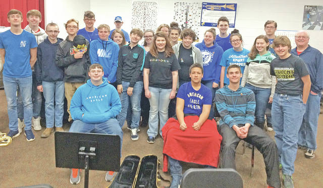 The Fairfield FFA held an Autism Awareness Day on April 6. The whole school had the opportunity to pay $1 to buy an autism puzzle piece ribbon or to wear a hat. Everyone was encouraged to wear blue and be involved in Light It Up Blue For Autism Awareness. Overall the school raised $400 for the organization Autism Speaks. The FFA officers and executive committee talked to students about what autism is and how it affects people. Autism receives less than 5 percent the research of many less prevalent childhood diseases. The Fairfield FFA looks forward to holding this event again next April. Pictured are middle school and high school students wearing blue, hats and autism ribbons.