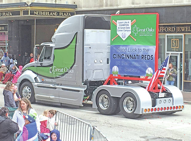 This truck created by Laurel Oaks students is shown at the Findley Market Parade this week in Cincinnati.