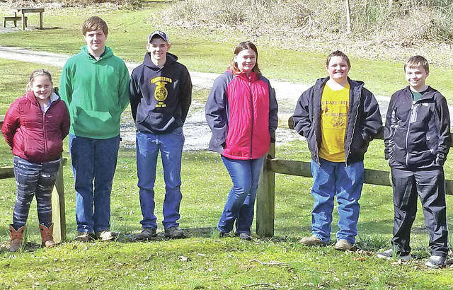 During the 2018 Safety Session of the Highland County Shooting Sports 4-H Club the club elected officers. The new officers are: president Dale Back, vice president Autumn Bennett, secretary Clay Brown, treasurer Owen Ryan, news reporter Addyston Knauff, health officer Wesley Mccoppin and safety officer Garren Ryan. In addition, the club reviewed several safety aspects such as personal protective equipment, MATE, proper passing, range safety, and styles of actions. Safety is the most important skill learned at Highland County 4-H Shooting Sports. The club takes it very seriously while having fun learning rifle, pistol, muzzleloading, archery and shotgun sporting skills. Not pictured is Owen Ryan.